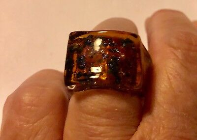 NWOT Hand Made Murano Glass Rings to fit 18//19 QR