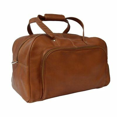 Piel Leather Deluxe Carry-On Duffel, Saddle, One Size, New