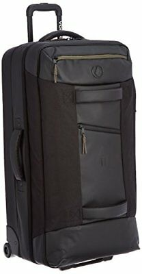Volcom Men's Globe Trotter Rolling Bag, Black, One Size, New