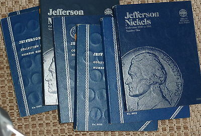 JEFFERSON NICKEL SET COMPLETE 1938 pds to 1961 pd / WITH ALL 11 WAR NICKELS #01