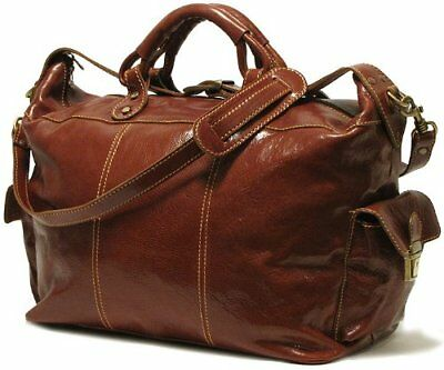 Floto Luggage Venezia Travel Tote, Vecchio Brown, Large, New