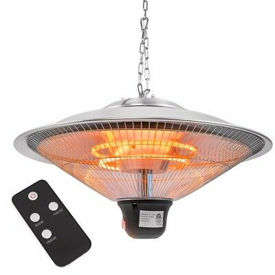 "20"" Electric Patio Infrared Outdoor Ceiling Heater Indoor Hanging Garden remote"