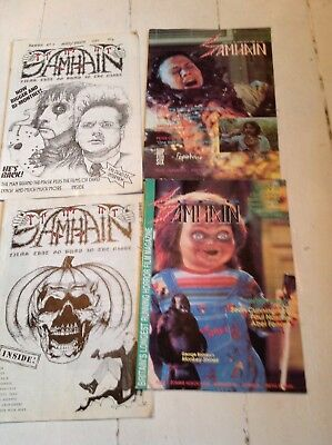 Samhain Rare Early Horror Movie Magazines X4 Collectable