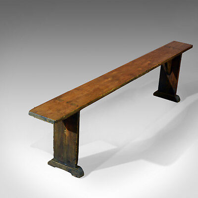 Antique Bench, Kitchen Seat, Pine Plank Dining, Stool, Form c.1900