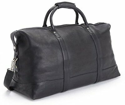 ROYCE Luxury Duffel Bag Luggage Handcrafted in Colombian Genuine Leather - Black
