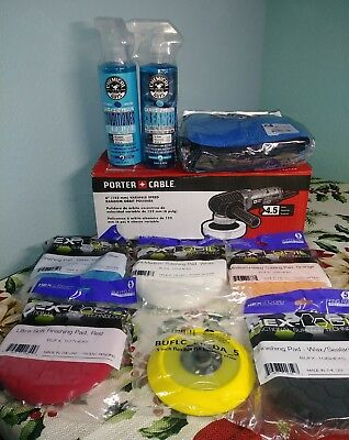 Chemical Guys BUF_209 - Porter Cable 7424XP Complete Detailing Kit (13 Items)