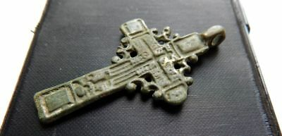Metal detector finds. Ancient. antique  cross.Rare type.