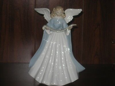 Beautiful Lladrotree Topper Angel With Music Scroll Figurine #5719