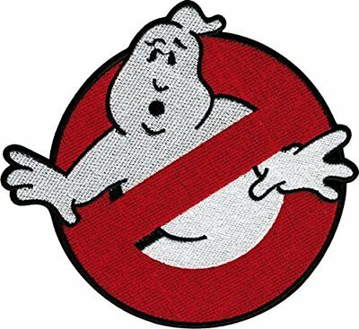"""Ghostbusters Movie """"NO GHOSTS"""" Logo 7"""" Diameter Embroidered PATCH, New"""