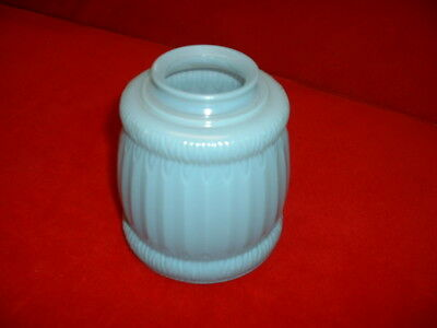 Vintage Ceiling Light Lamp Shade/Globe - lite blue antique glass art deco