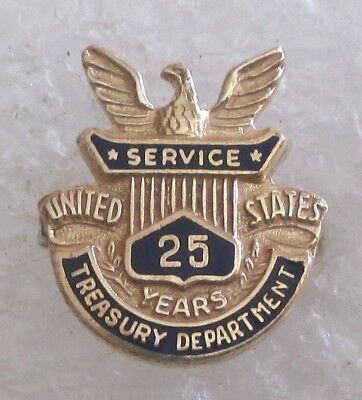 Vintage US Treasury Department 25 Year Service Award Pin-Government IRS