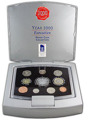 UK 2000 Royal Mint EXECUTIVE MILLENNIUM PROOF COIN SET - 10 COINS