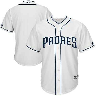 San Diego Padres MLB Mens Majestic Cool Base Replica Jersey White Big Sizes