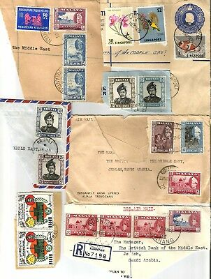 Singapore Malaya Malaysia Brunie used on pieces collection, interesting group, p