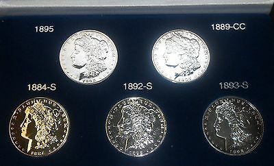 Million Dollar Morgan Collection - Five of Rarest Dates/Mint Marks     ENN Coins