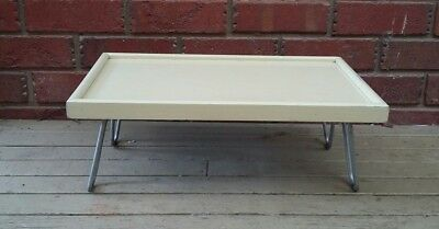 "The ""Luxure"" collapsible bed & service tray. Vintage tray table w folding legs."