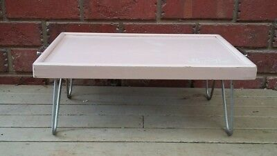 Collapsible bed & service tray. Vintage tray table w folding legs & handles.