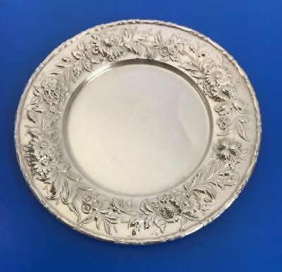 S Kirk And Son Repousse Sterling Silver Plate