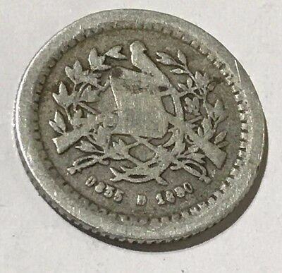 Coin Of Guatemala 1/2 Real - Silver 0.835 - 1880