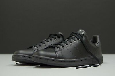 nouvelle arrivee 35fae 940bb NEW ADIDAS ORIGINALS STAN SMITH Men's Shoes M20327 TRIPLE BLACK LEATHER  Trainers