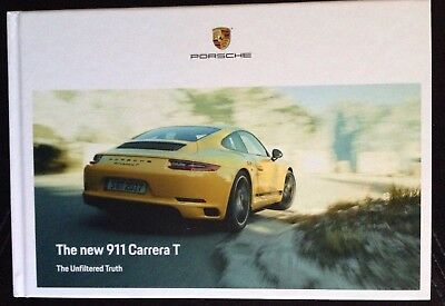 2018 New Porsche 911 Carrera T Hardcover Brochure Ltd Edition Small Catalog