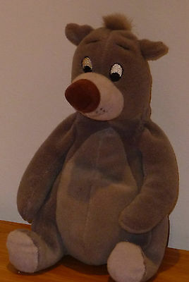 "Baloo Walt Disney Jungle Book 7"" soft toy rare collectable beanie soft toy"