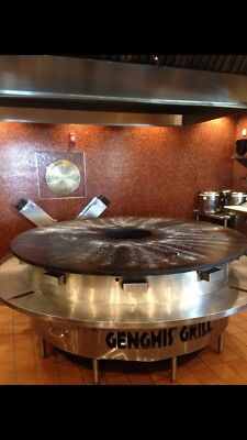 Mongolian BBQ Grill Natural Gas 8' NSF used 8 months only