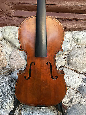 Old American Violin For Restoration, Labeled