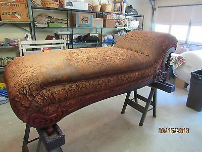 PAULINE TABOR..ANTIQUE CHAISE/FAINTING SOFA..+ FOUR Antique Chairs(Recovered)!!!