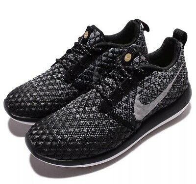 sports shoes 41d6b eb12b Nike Roshe Two Flyknit 365 Running Shoes Grey Black 861706 001 Size 6.5  Women S