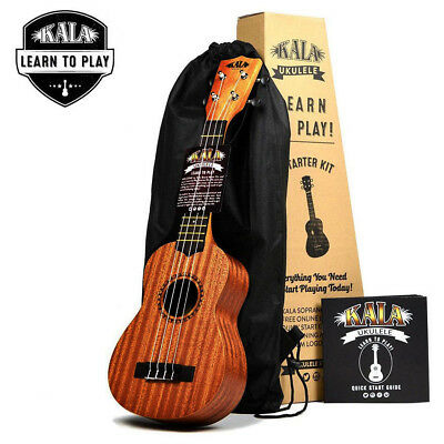 **kala Mahogany Learn To Play Starter Pack W/bag, Free Online Lessons & Tuner**
