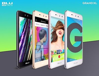 BLU Grand XL  5.5''  HD Display Android Unlocked GSM Cell Phone Smartphone
