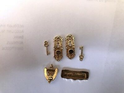 Doll House Door Accessory Sets! 3 Items- 1:12th- New ! Handles, Knocker,MailSlot