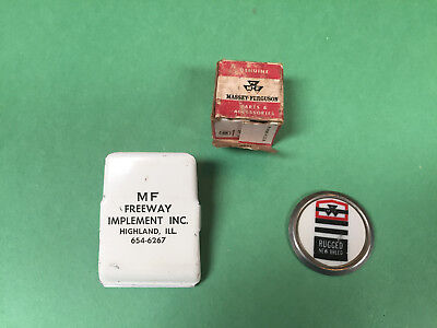 Massey Ferguson 'RUGGED NEW BREED' advertising pin Magnetic clip, Genuine fuses
