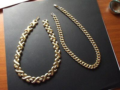GOLD Chains x 2 (Gold Tone) - Thick - Wide Gold (tone) Chains