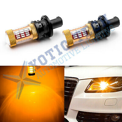 Amber Error Free Ph24wy Led Bulbs For Audi Cadillac Etc Front Turn