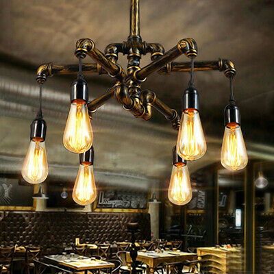 Vintage Industrial Chandelier Pendant Light Lamp Steampunk Pipe Ceiling Fixture 99 99 Picclick