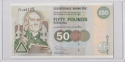 2003 Scotland £50 Pounds UNC Clydesdale Bank PLC Wmk:Smith Sign.R.Pinney