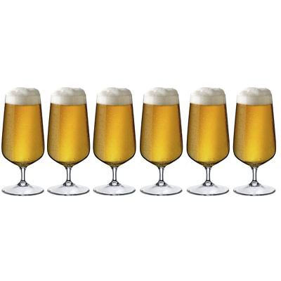Rona - Hercules Accent Beer Glass 380ml set of 6 (Made in Europe)