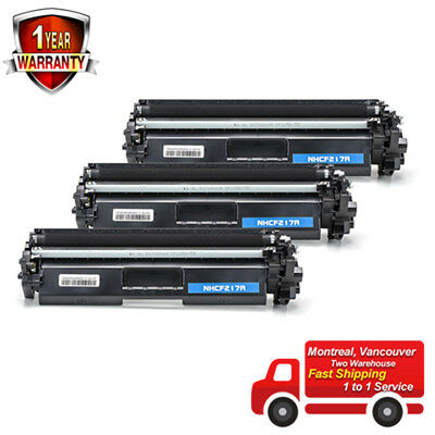 3 PK CF217A Compatible Toner For HP 17A LaserJet Pro M102 M130fn WITH NO CHIP