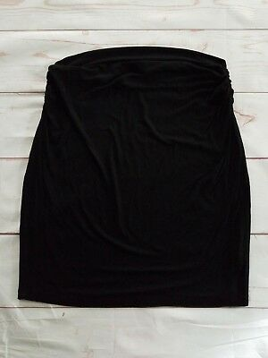 Gap Maternity Skirt Size L Large Black Knit Work Career Casual