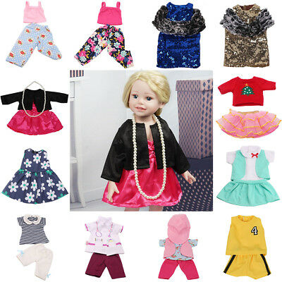 Doll Clothes Set Underwear Pants Pajama Dress Accessory for18inch Girls