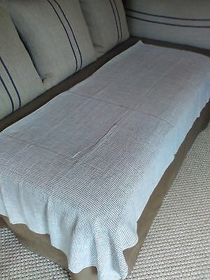 Early Homespun Linen Sheet AAFA