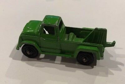 "Vintage tow truck Green Die Cast Metal  2-1/2"" TOOTSIETOY MINI TINY RARE"