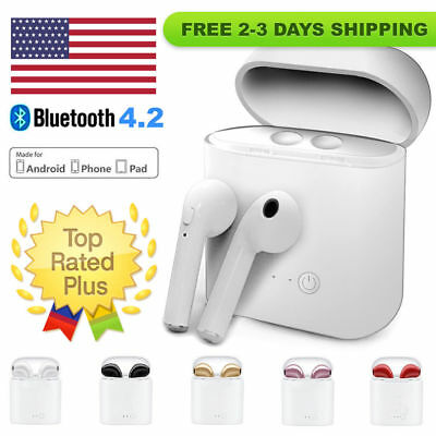 Mini Wireless Bluetooth Earbuds w/ Mic True Bass Twins Stereo In-Ear Earphone