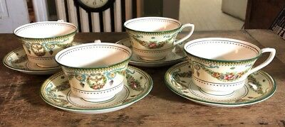 Four vintage Royal Worcester Windsor cups and saucers EXC