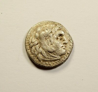 Alexander III the Great as Hercules Ancient Drachm Greek Coin Zeus