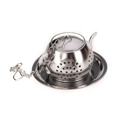 Strainer / infuser / tea spoon shaped teapot with tray. R5S4 E4R1