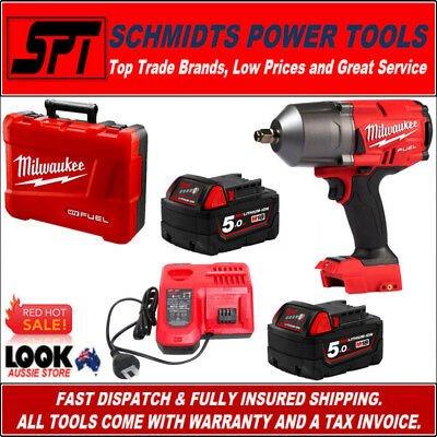 "Milwaukee M18Fhiwf12-502C M18 18V Fuel Gen 2 1/2"" Brushless Impact Wrench Kit"