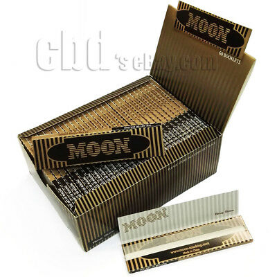 60 booklets king size slim mix flax Moon Gold Cigarette Tobacco Rolling Paper